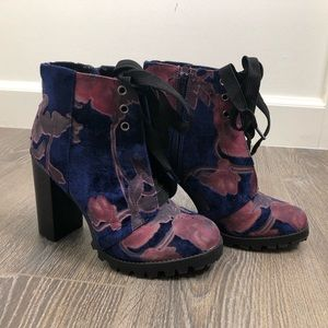 Floral Mid-Calf Boots